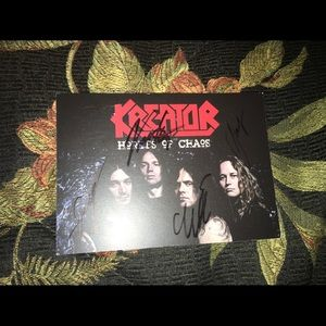 Kreator hordes of chaos card with signature